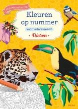, Kleuren op nummer voor volwassenen Dieren