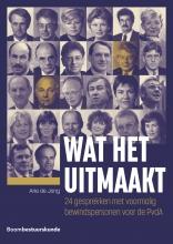 Arie de Jong , Wat het uitmaakt