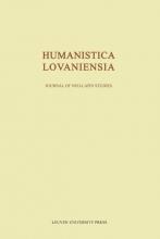 Humanistica Lovaniensia Journal of neo latin studies volume LXIII  2014