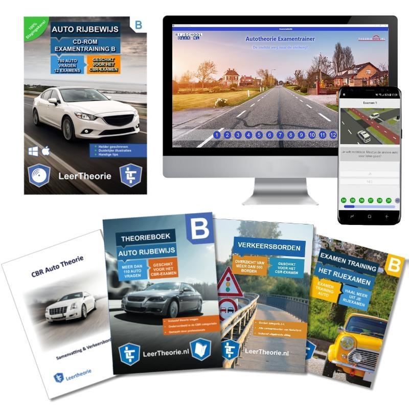 ,Auto Theorieboek 2020 Rijbewijs B | Auto Theorieboek | Auto Theorie Samenvatting | Verkeerborden overzicht | Praktijk informatie | CD-ROM met auto theorie-examens |