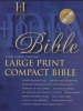 Large Print Compact Bible-KJV,Black Bonded Leather Compact