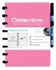 ,Notitieboek Correctbook uitwisbaar en herbruikbaar A5 roze lijn 40blz