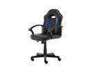 ,<b>Bureaustoel zwart/blauw</b>