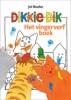 <b>Jet  Boeke</b>,Dikkie Dik vingerverfboek met kliederschort