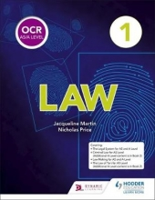 Martin, Jacqueline OCR AS/A Level Law Book 1