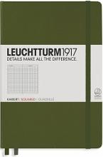 Lt348103 Leuchtturm notitieboek medium 145x210 dots / bullets legergroen