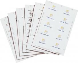 , Badgekaart Durable 1456 bedrukbaar 60x90mm 160stuks