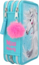 , Miss melody 3-vaks etui led turkoois
