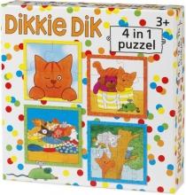 Bat-52016 , Dikkie dik 4 in 1 puzzel - 4-6-9-16