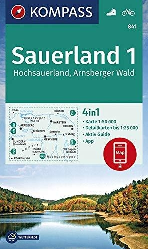 ,Sauerland 1, Hochsauerland, Arnsberger Wald 1:50 000