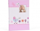 ,<b>Fotoalbum baby moments slip in roze voor 300 foto`s 10 x 15 cm</b>