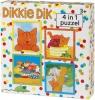 <b>Bat-52016</b>,Dikkie dik 4 in 1 puzzel - 4-6-9-16