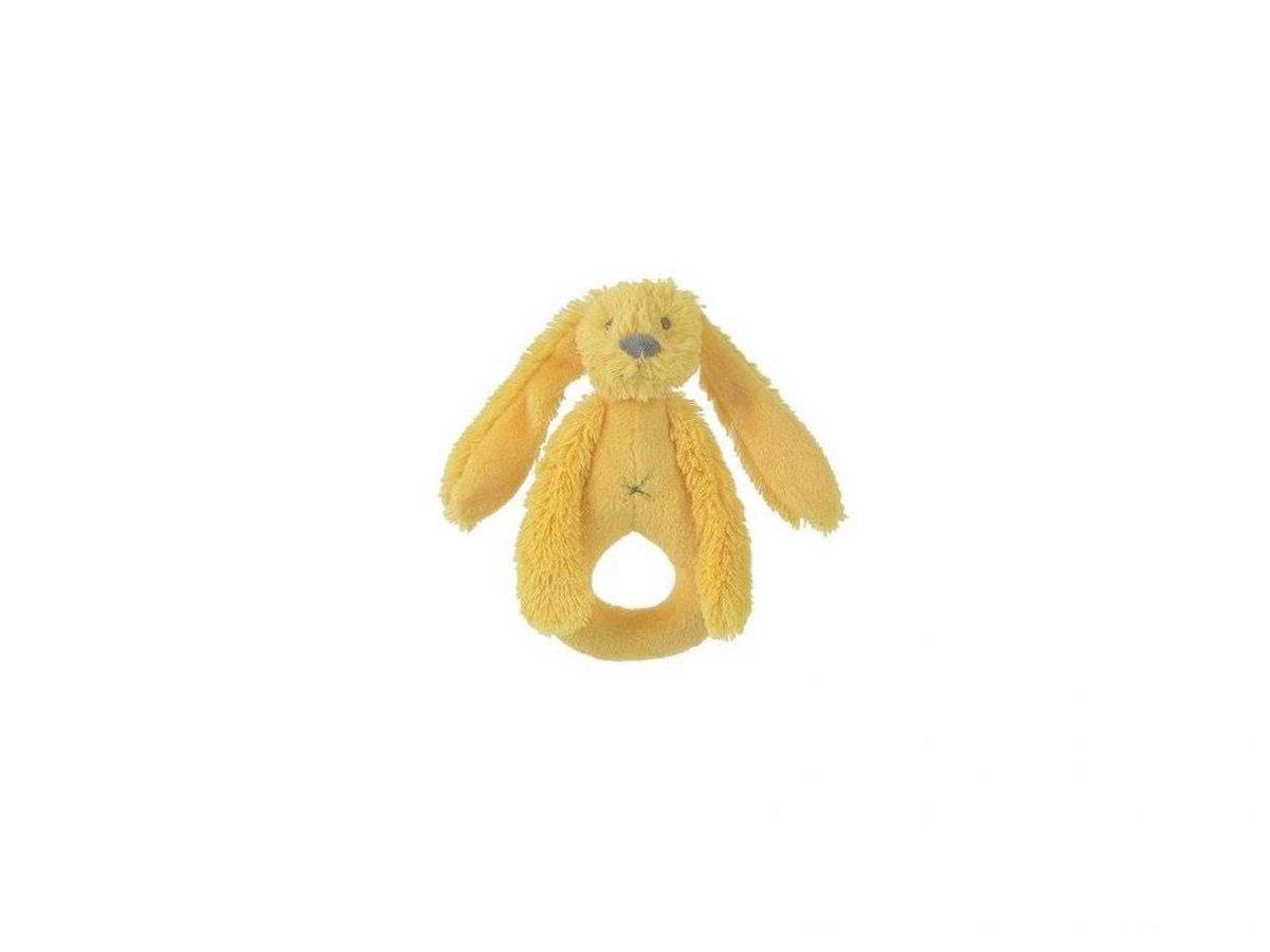 Hap-132643,Yellow rabbit richie - rammelaar - happy horse - knuffel - pluche