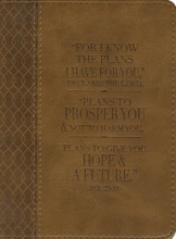 Brown Lux-leather Journal Plans Jeremiah 29:11