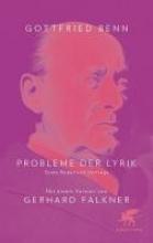 Benn, Gottfried Probleme der Lyrik