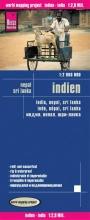 , Reise Know-How Landkarte Indien (1:2.900.000) mit Nepal und Sri Lanka