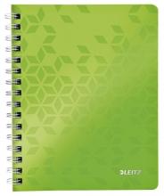 , Notitieboek Leitz WOW A5 lijn spiraal PP groen