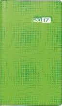 Taschenkalender Taschenplaner int. 2017 grn. 2 Seiten = 1 Woche, 87 x 153 mm