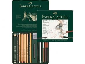 , Pitt Monochrome set Faber-Castell 21-delig medium
