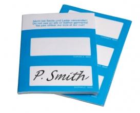 , Naambadge etiket Durable 8605 30x60mm zelfklevend blauw
