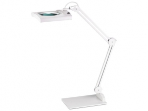 , bureaulamp met loep Alco LED wit 12,4 watt 62 LEDS