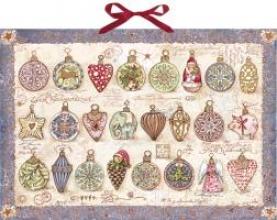 24 zauberhafte Weihnachtskugeln Adventskalender