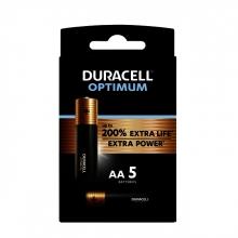 , Batterij Duracell Optimum 5xAA
