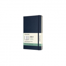 , Moleskine 18 MND Agenda - 2020/21 - Wekelijks - Large (13x21 cm) - Sapphire Blue - Harde Kaft