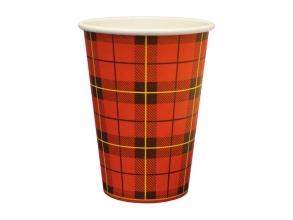 , drinkbeker Schotse ruit 180cc