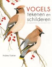 Andrew  Forkner Vogels tekenen en schilderen