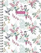 ZNU , Romantic Garden spiraalboek groot (lijnen)