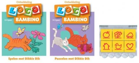 , Loco Bambino Dikkie Dik (doos + 2 boekjes)