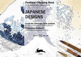 Pepin van Roojen JAPANESE DESIGNS - POSTCARD COLOURING BOOK