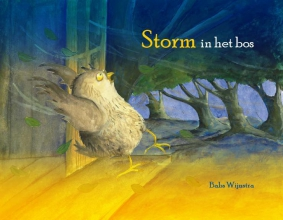 Babs  Wijnstra Storm in het bos