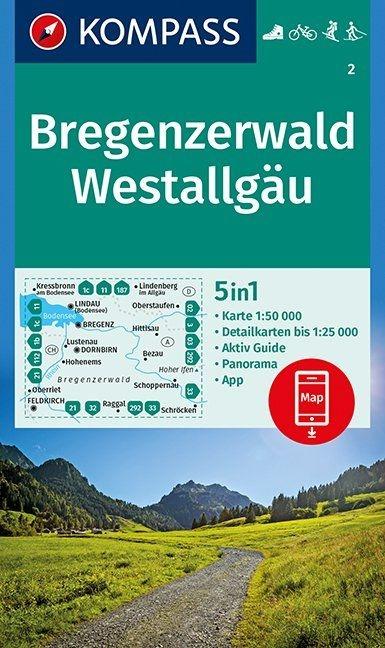 ,Bregenzerwald, Westallgäu 1:50 000