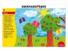 ,vingerverf Eberhard Faber 100ml geel, rood, blauw, groen,   wit, zwart