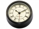 ,Alarmklok NeXtime dia. 11 cm metaal, zwart, `Small          Amsterdam`