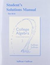 Michael, III Sullivan,   Michael Sullivan Student`s Solutions Manual College Algebra