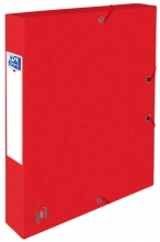 , Elastobox Oxford Top File+ A4 40mm rood