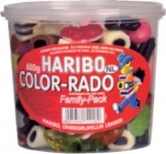 , Haribo Color-Rado wine gum + engelse drop 650gram