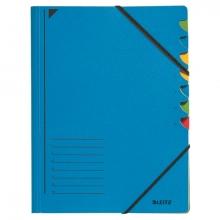 , Sorteermap Leitz 3907 7-delig karton blauw
