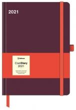 , Agenda 2021 cool diary 16x22 bordeaux/coral