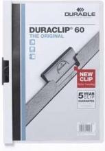 , Klemmap Durable Duraclip A4 6mm 60 vellen wit