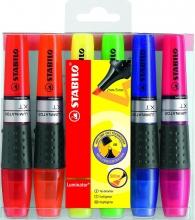 , Markeerstift STABILO Luminator 71/6 etui à 6 kleuren