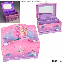 0010481 a Fantasy model sieradendoos met licht mermaid rose