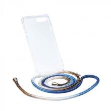 Ax125 , Axento telefoonkoord met hoesje iphone 7+/8+ goud, zilver en blauw