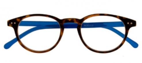 Rce003 , Leesbril icon demi with reflex blue temples 2.5