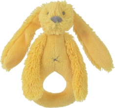 Hap-132643 , Yellow rabbit richie - rammelaar - happy horse - knuffel - pluche