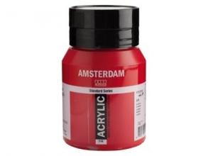, Talens amsterdam acrylverf pot 500 ml. karmijn 318