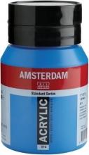 , Talens amsterdam acrylverf pot 500 ml. primaircyaan 572